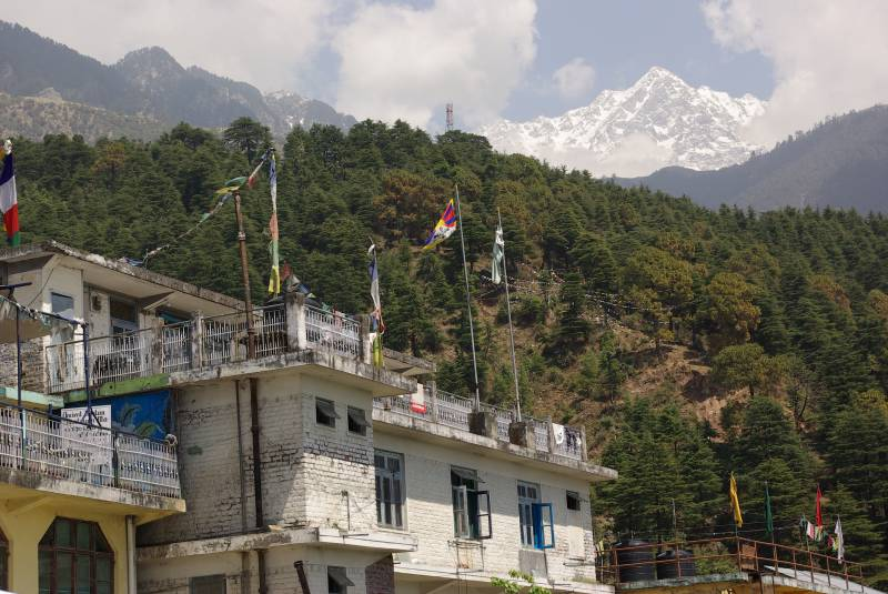 View from McLeod Ganj (Dharamsala upper town).