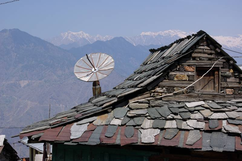Roof near the Bhimakali temple in Sarahan.