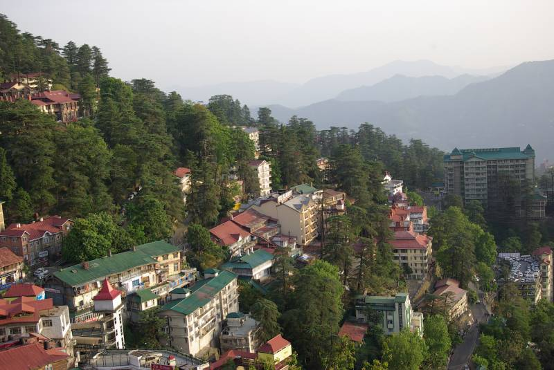 View over Shimla.
