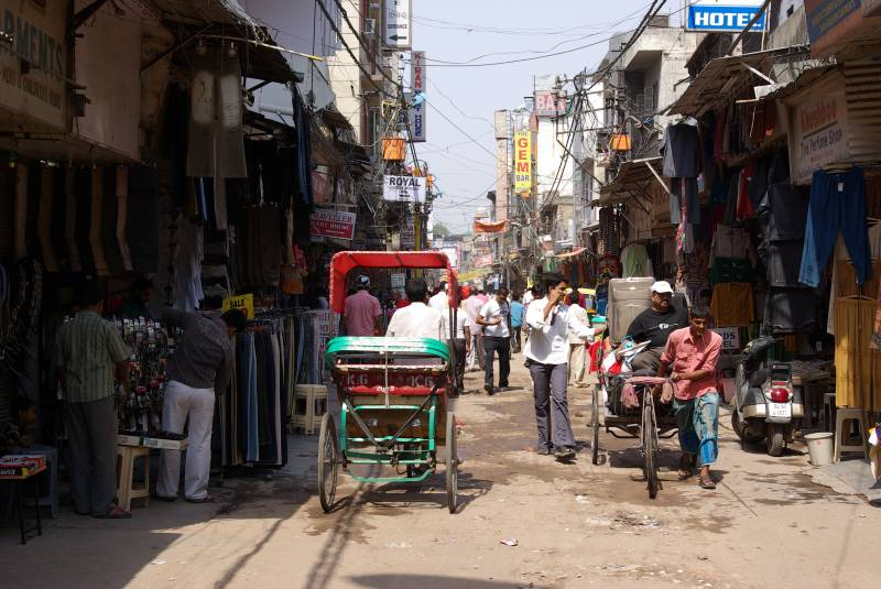 The Paharganj street in Delhi.