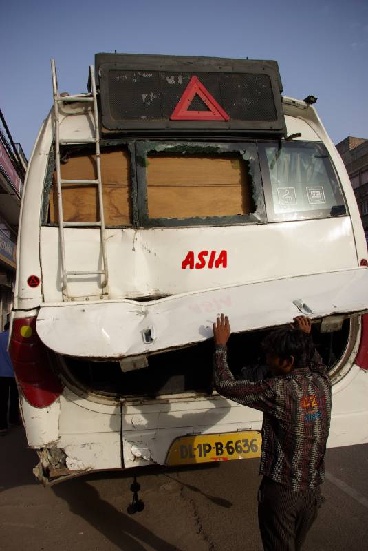 Bus to Agra.