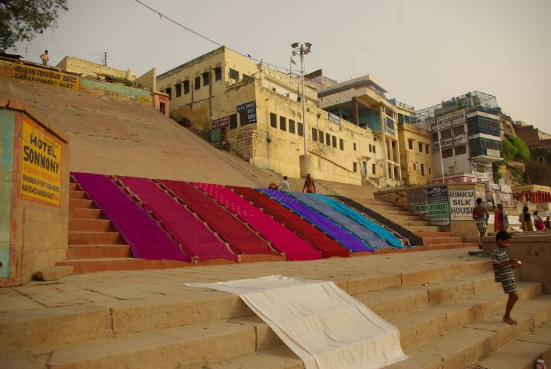 The Babua Pandey ghat in Varanasi.