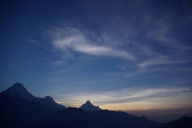 Sunrise over Machhapuchhre (fishtail mountain) from Poon Hill.