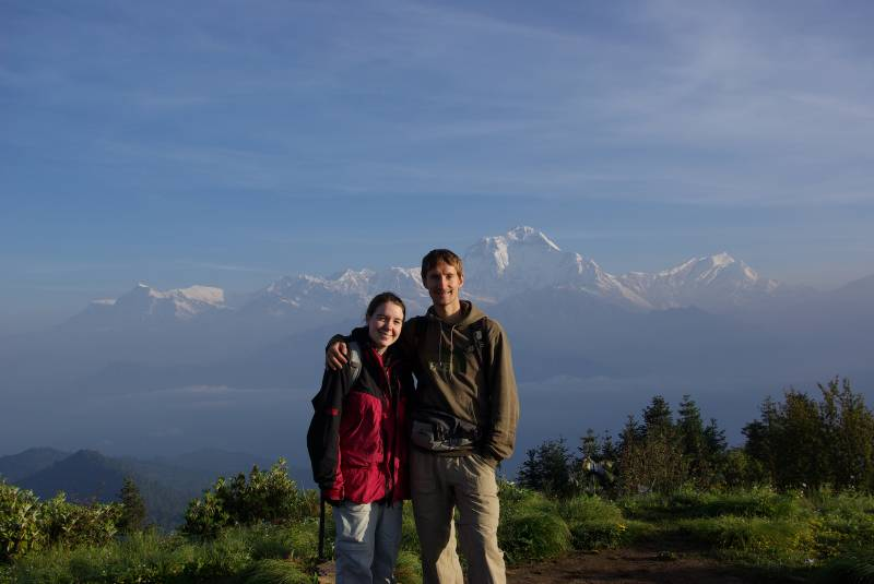 View towards Dhaulagiri from Poon Hill.
