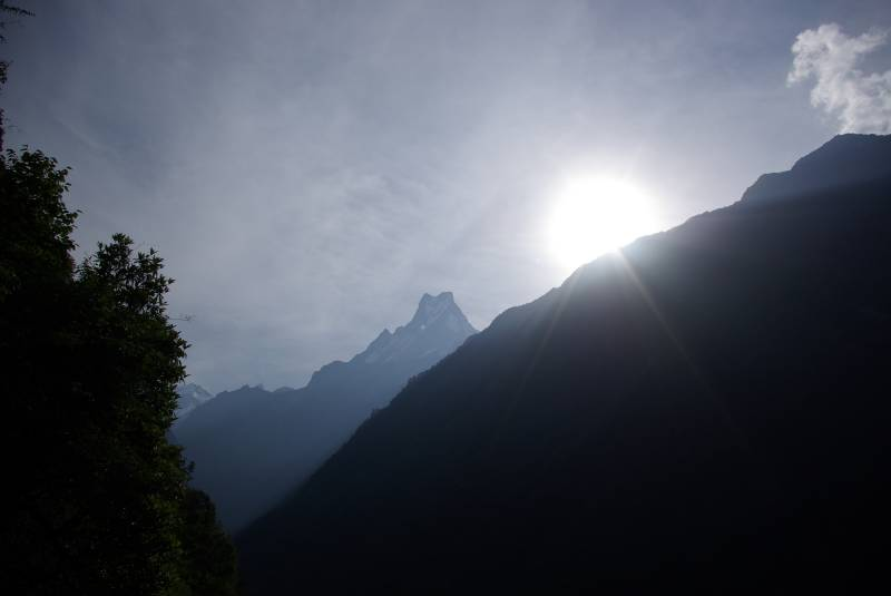 View along the trek from Bamboo to Sinuwa.