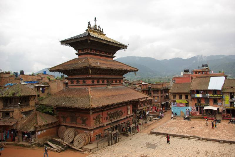 Temple at the Taumadhi Tol square in Bhaktapur.