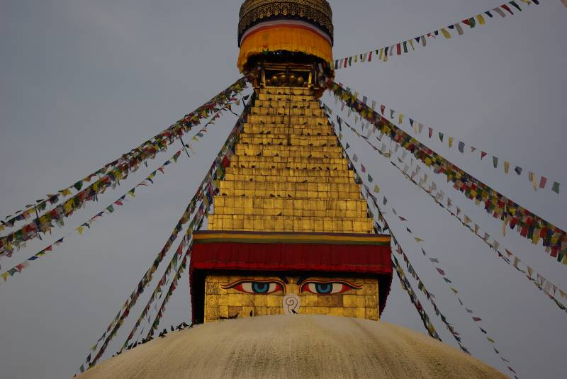 The Boudhanath stupa in Kathmandu.