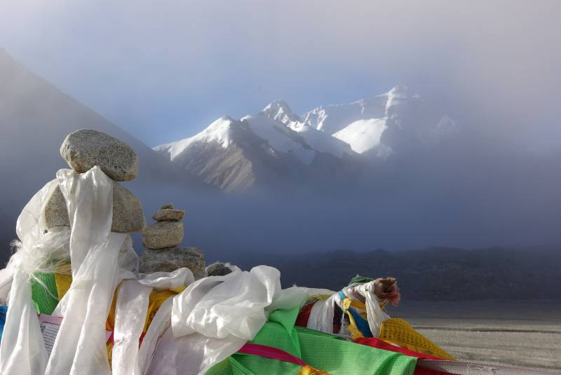 Prayer flags at Everest basecamp.