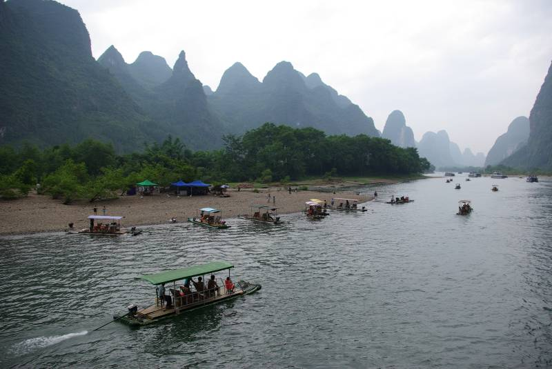 On the Li river.