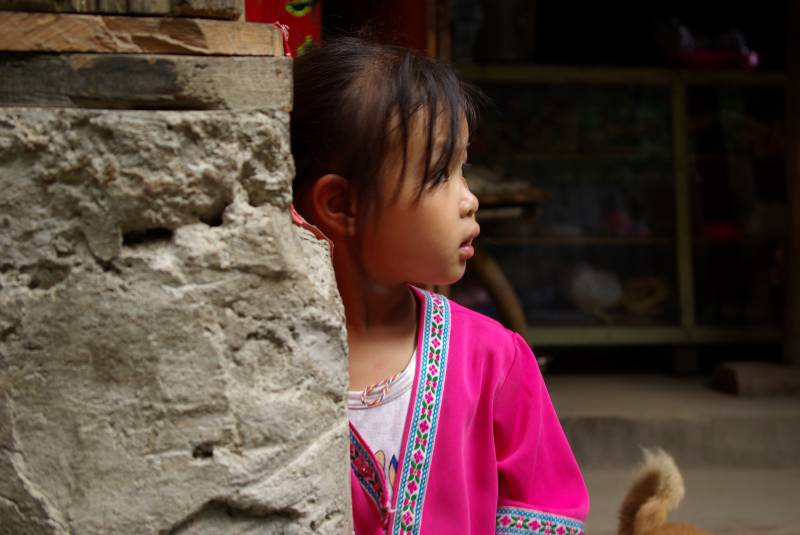 Girl in Longji village.