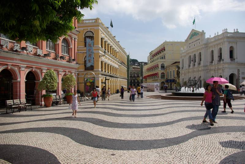 Largo do Senado street in Macau.