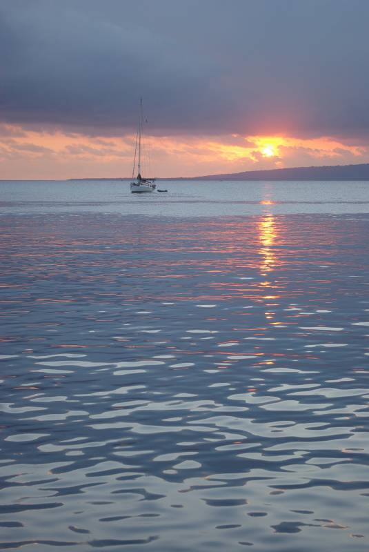 Sunset in Port Vila.