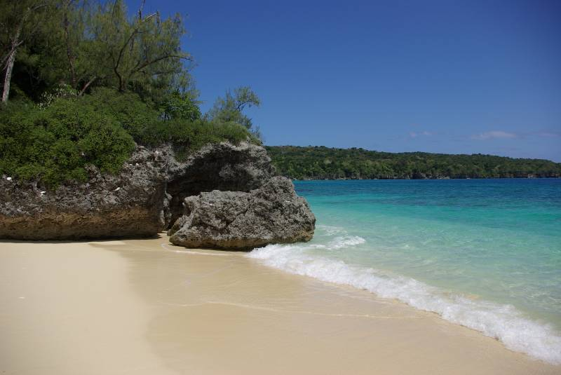 Congoola beach on Moso island.