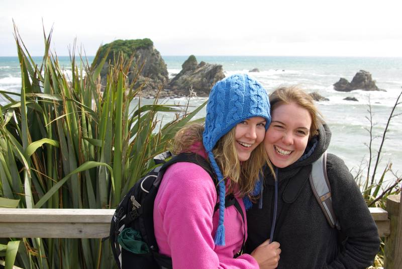 Edel and Teresa by Cape Foulwind.
