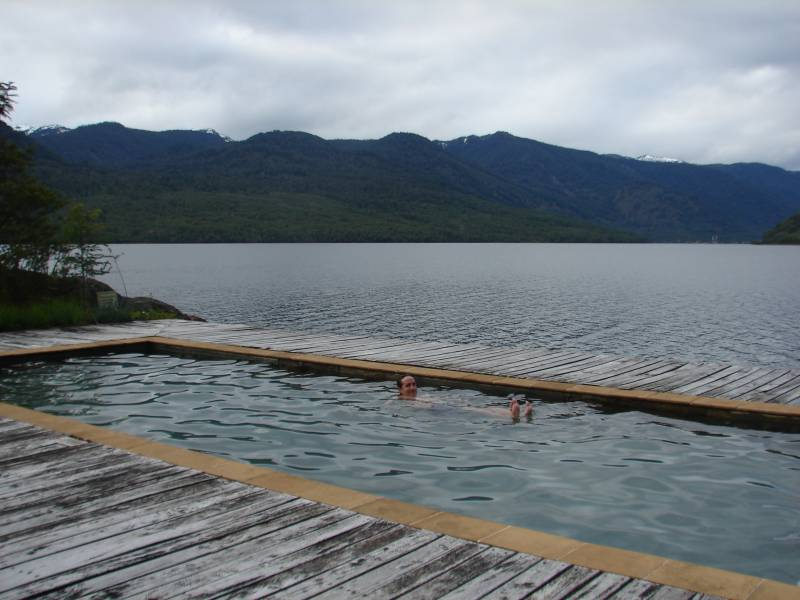 Relaxing in Puyuhuapi.