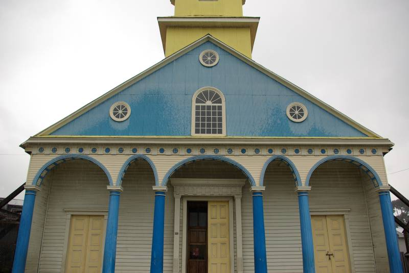 Chiloe church in Chonchi.