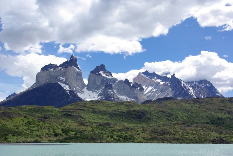 Cuernos del Paine seen from Lago Pehoe.