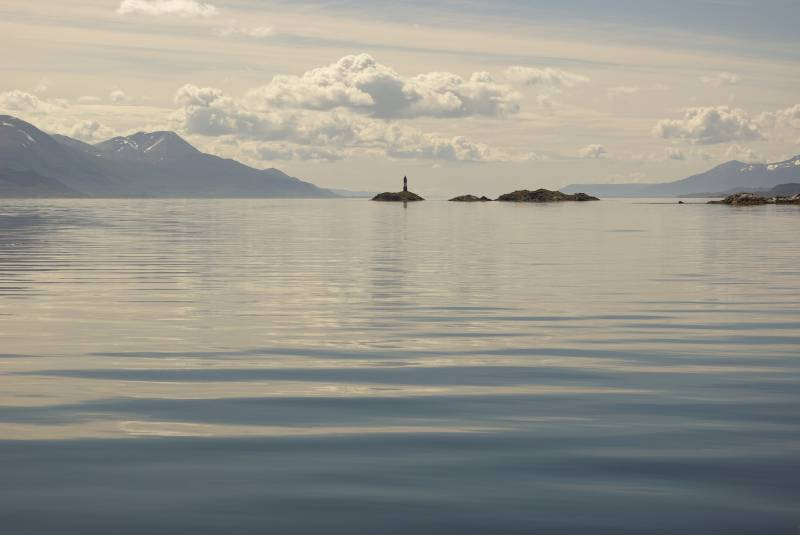 Lighthouse in the Beagle Channel.