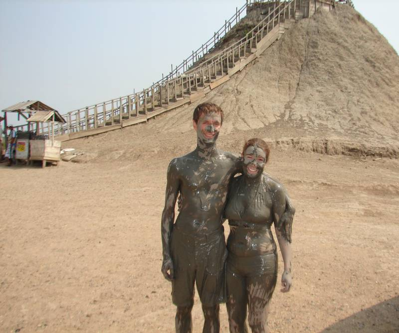 After the volcano-dipping.
