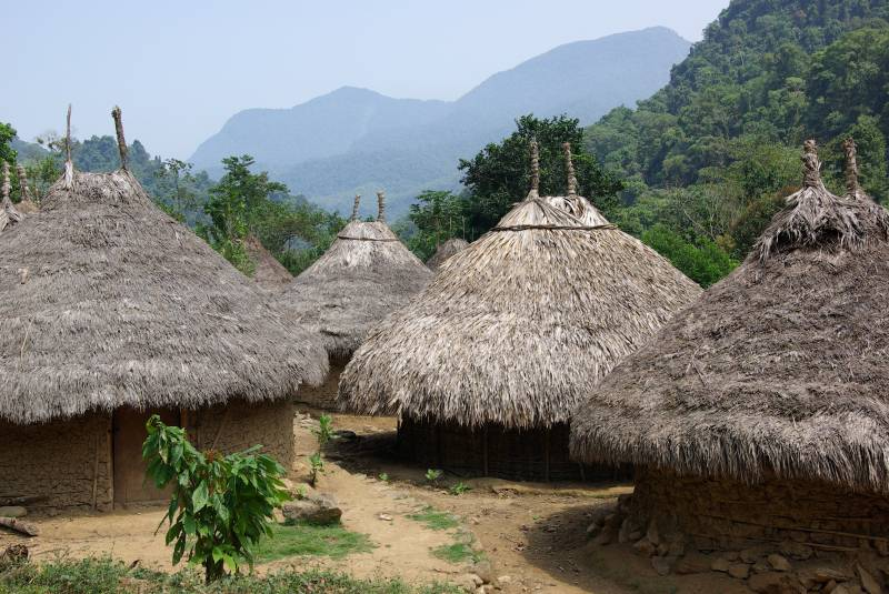 Kogi village in the Sierra Nevada de Santa Marta.