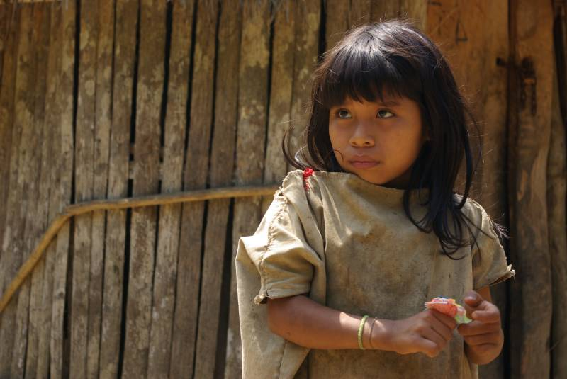 Kogi child in the Mutanyi village.