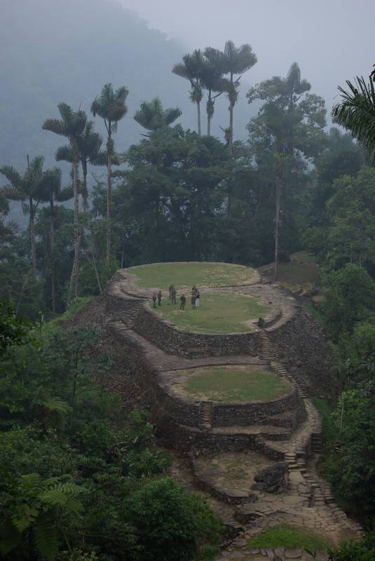 The Ciudad Perdida ruins.