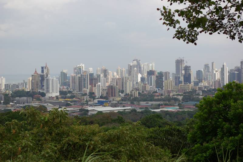 View towards Panama City from Parque Metropolitano.